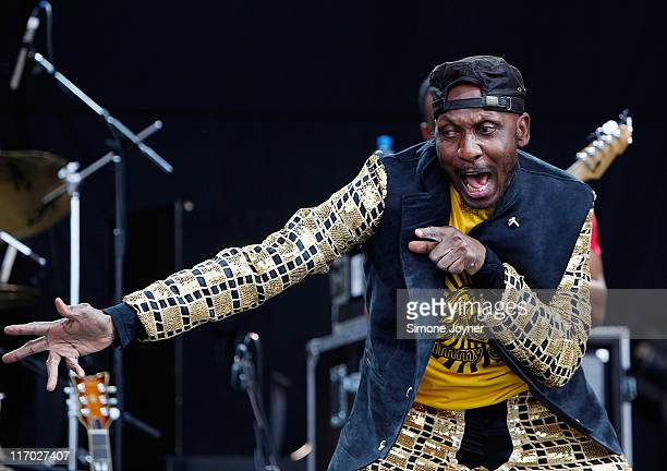 Jamaican ska and reggae singer Jimmy Cliff performs on stage during day two of Feis Festival 2011 at Finsbury Park on June 19 2011 in London United...
