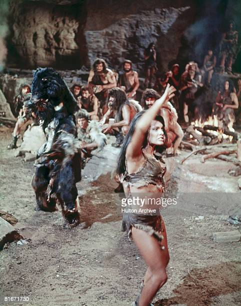 Jamaicanborn actress Martine Beswick as cave dweller Nupondi in a scene from 'One Million Years BC' directed by Don Chaffey 1966