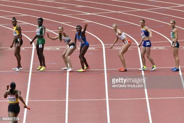 Jamaica's Stephenie Ann Mcpherson Nigeria's Yinka Ajaki Germany's Laura Miller Italy's Ayomide Folorunso Poland's Iga Baumgart Ukraine's Anastasia...