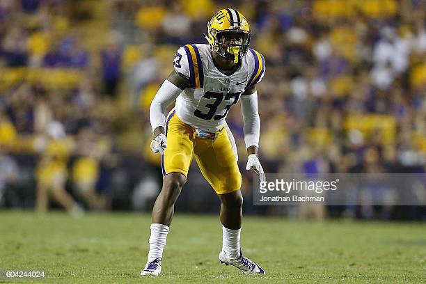 Jamal Adams of the LSU Tigers defends during a game at Tiger Stadium on September 10 2016 in Baton Rouge Louisiana