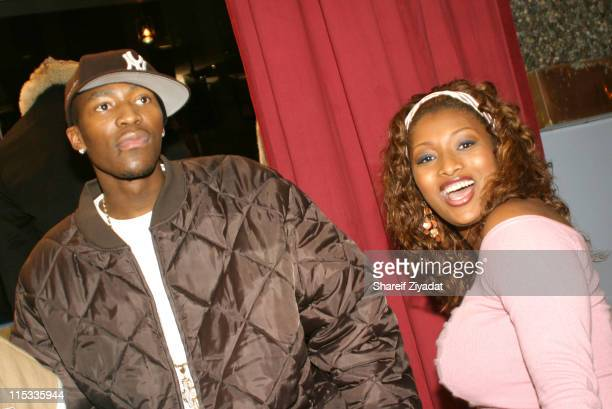 Jamal Crawford and Toccara during DENIMAXX 'The Fur Follies' Celebrity Auction Fundraiser for the Katrina Relief at DENIMAXX in New York United States