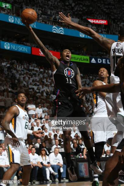 Jamal Crawford of the LA Clippers shoots the ball against the Utah Jazz during Game Three of the Western Conference Quarterfinals of the 2017 NBA...