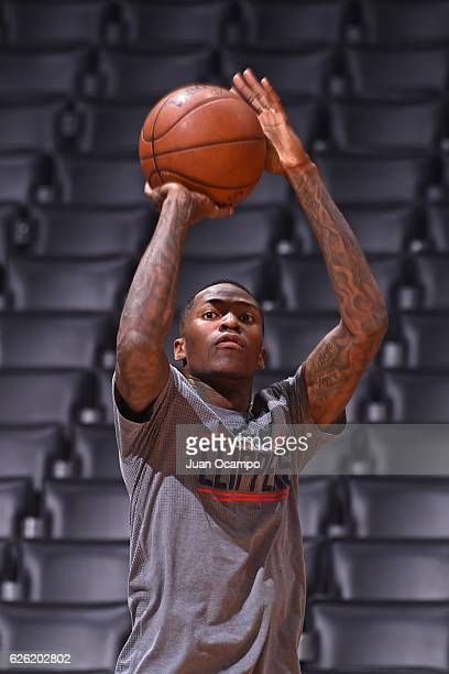 Jamal Crawford of the LA Clippers warms up before the game against the Portland Trail Blazers on November 09 2016 at STAPLES Center in Los Angeles...