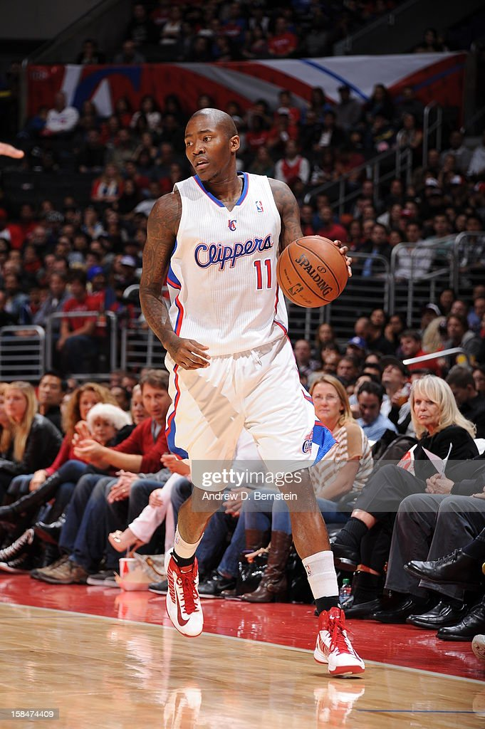 <a gi-track='captionPersonalityLinkClicked' href=/galleries/search?phrase=Jamal+Crawford&family=editorial&specificpeople=201851 ng-click='$event.stopPropagation()'>Jamal Crawford</a> #11 of the Los Angeles Clippers brings the ball up court against the Sacramento Kings at Staples Center on December 1, 2012 in Los Angeles, California.
