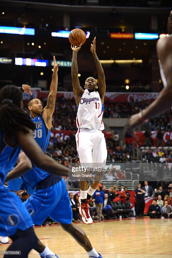 <a gi-track='captionPersonalityLinkClicked' href=/galleries/search?phrase=Jamal+Crawford&family=editorial&specificpeople=201851 ng-click='$event.stopPropagation()'>Jamal Crawford</a> #11 of the Los Angeles Clippers goes for a jump shot during the game between the Los Angeles Clippers and the Dallas Mavericks at Staples Center on December 5, 2012 in Los Angeles, California.
