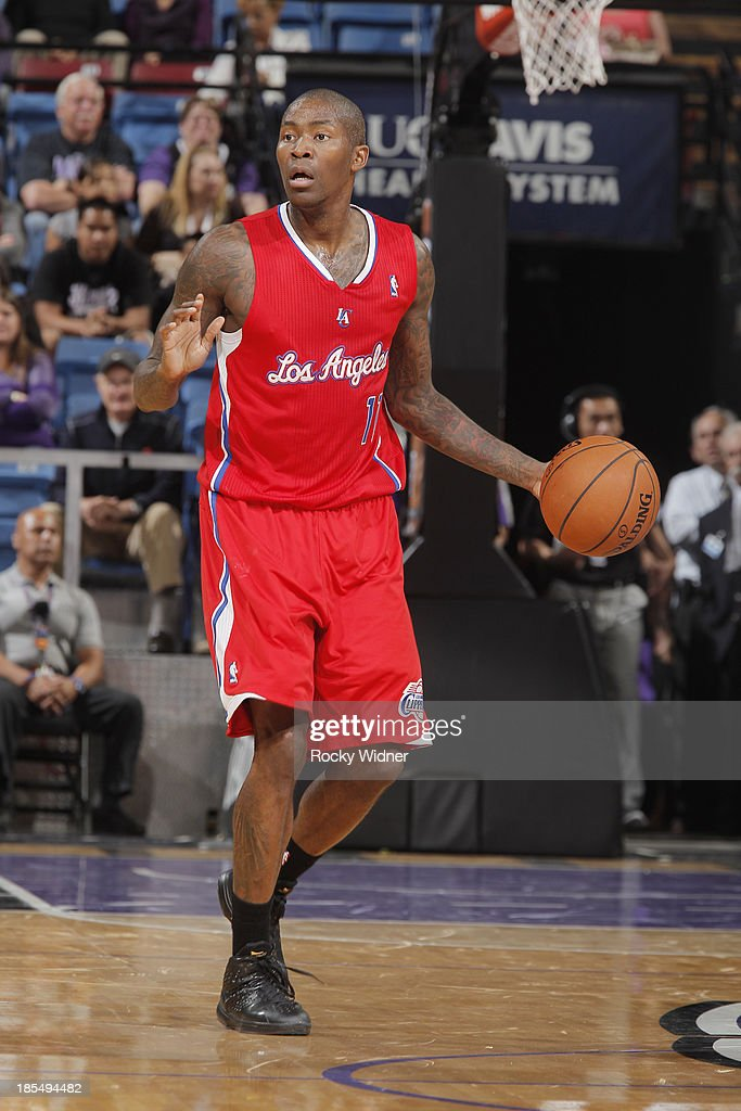 <a gi-track='captionPersonalityLinkClicked' href=/galleries/search?phrase=Jamal+Crawford&family=editorial&specificpeople=201851 ng-click='$event.stopPropagation()'>Jamal Crawford</a> #11 of the Los Angeles Clippers handles the ball against the Sacramento Kings on October 14, 2013 at Sleep Train Arena in Sacramento, California.