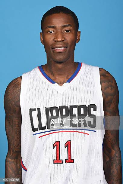 Jamal Crawford of the Los Angeles Clippers poses for a headshot during media day at the Los Angeles Clippers Training Center on September 25 2015 in...