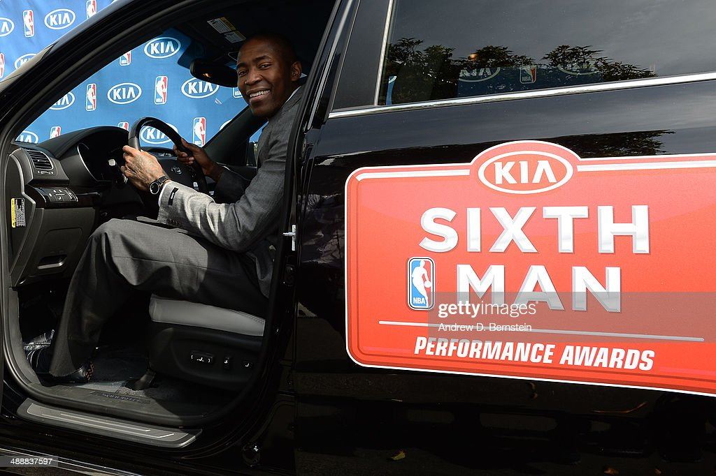 Jamal Crawford #11 of the Los Angeles Clippers poses for a photo after the Sixth Man Award Press Conference at the Los Angeles Clippers Training Facility on May 8, 2014 in Playa Vista, California.
