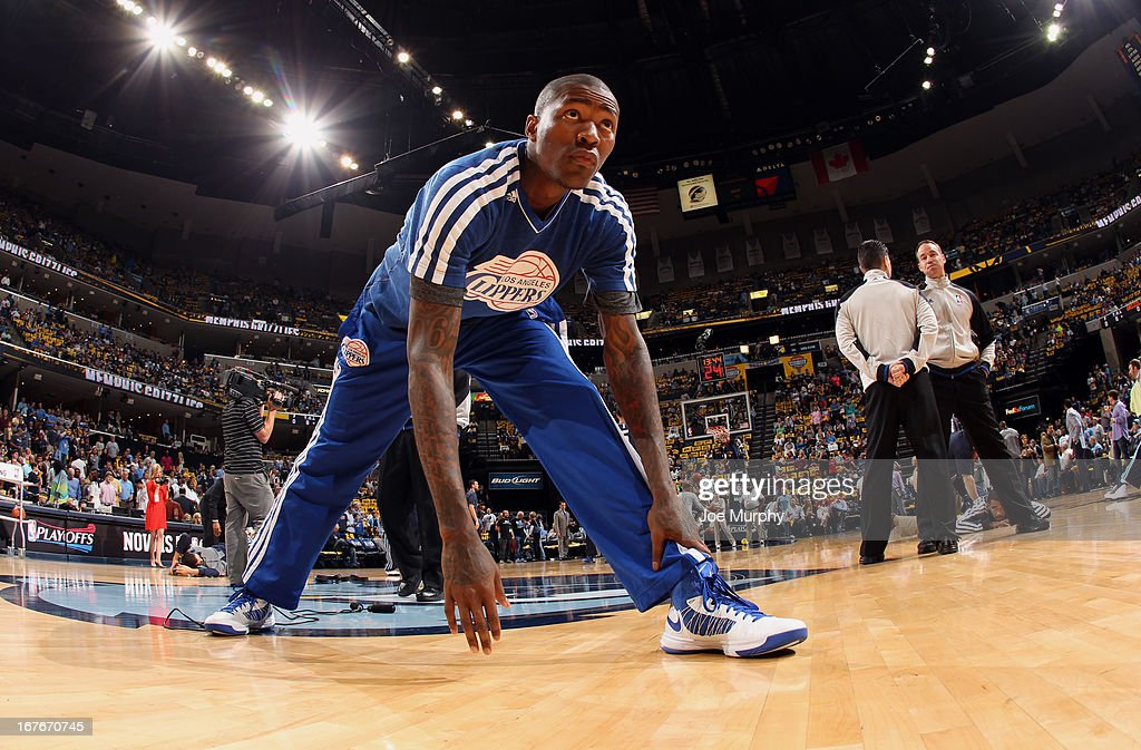 Jamal Crawford #11 of the Los Angeles Clippers prepares for Game Four of the Western Conference Quarterfinals against the Memphis Grizzlies during the 2013 NBA Playoffs on April 27, 2013 at FedExForum in Memphis, Tennessee.