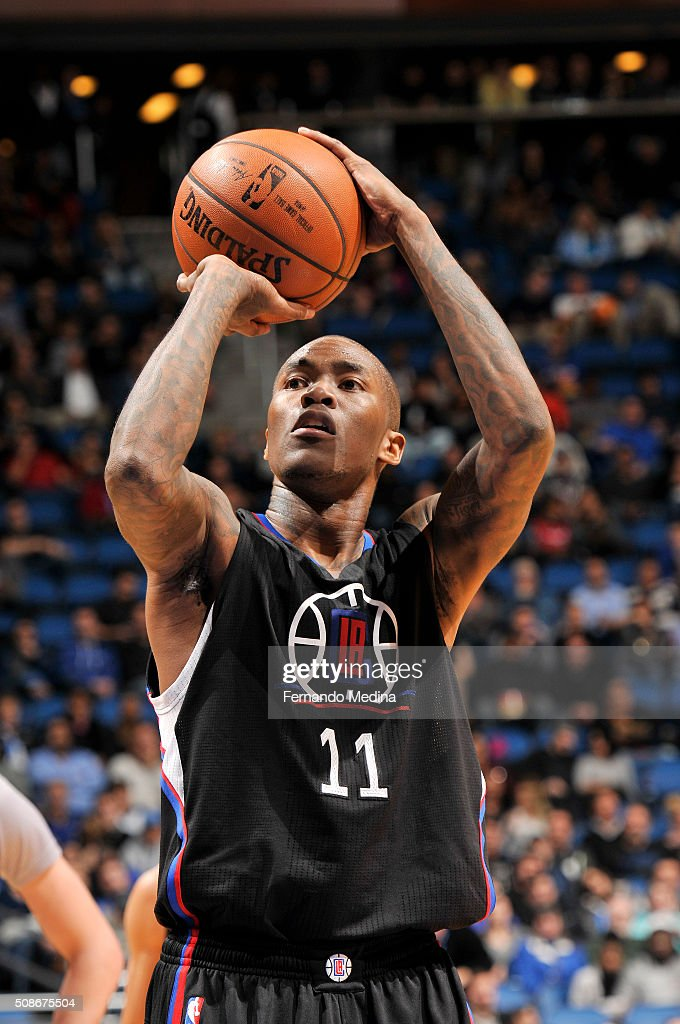 Jamal Crawford #11 of the Los Angeles Clippers shoots a free throw during the game against the Orlando Magic on February 5, 2016 at Amway Center in Orlando, Florida.