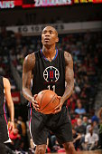 Jamal Crawford of the Los Angeles Clippers shoots a free throw against the New Orleans Pelicans on March 20 2016 at Smoothie King Center in New...