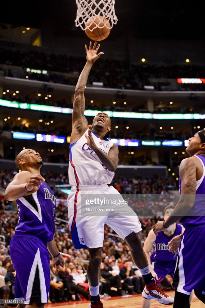 Jamal Crawford #11 of the Los Angeles Clippers shoots in the lane against the Sacramento Kings at Staples Center on December 21, 2012 in Los Angeles, California.