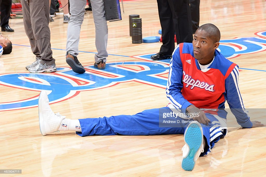 <a gi-track='captionPersonalityLinkClicked' href=/galleries/search?phrase=Jamal+Crawford&family=editorial&specificpeople=201851 ng-click='$event.stopPropagation()'>Jamal Crawford</a> #11 of the Los Angeles Clippers warms-up prior to the game against the Houston Rockets at Staples Center on November 4, 2013 in Los Angeles, California.