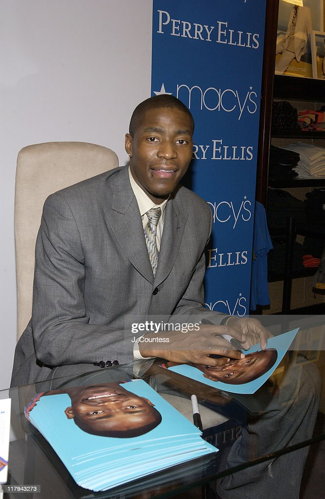 <a gi-track='captionPersonalityLinkClicked' href=/galleries/search?phrase=Jamal+Crawford&family=editorial&specificpeople=201851 ng-click='$event.stopPropagation()'>Jamal Crawford</a> signs autographs for fans during Perry Ellis and Travel & Leisure Magazine Host In-Store Appearance by NBA Star <a gi-track='captionPersonalityLinkClicked' href=/galleries/search?phrase=Jamal+Crawford&family=editorial&specificpeople=201851 ng-click='$event.stopPropagation()'>Jamal Crawford</a> at Macy's Herald Square in New York City, New York, United States.