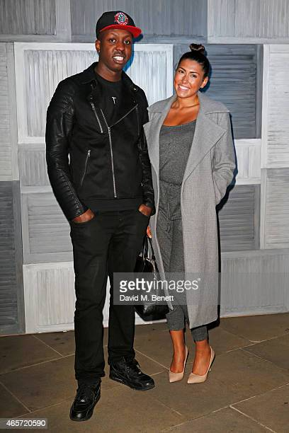 Jamal Edwards and guest arrive at a party hosted by Instagram's Kevin Systrom and Jamie Oliver This is their second annual private party taking place...