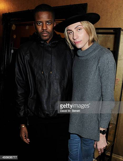 Jamal Edwards and Kyle De'Volle attend as Kyle De'Volle and Charlotte Simone launch their fur collection at The Box Boutique on December 12 2013 in...