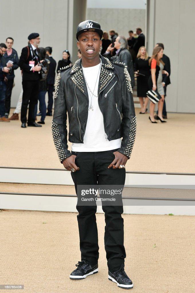 Jamal Edwards arrives at Burberry Prorsum Womenswear Spring/Summer 2014 show during London Fashion Week at Kensington Gardens on September 16, 2013 in London, England.