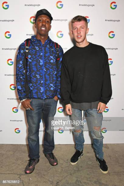 Jamal Edwards attends Google's Pixel 2 phone launch at The Old Selfridges Hotel on October 4 2017 in London England