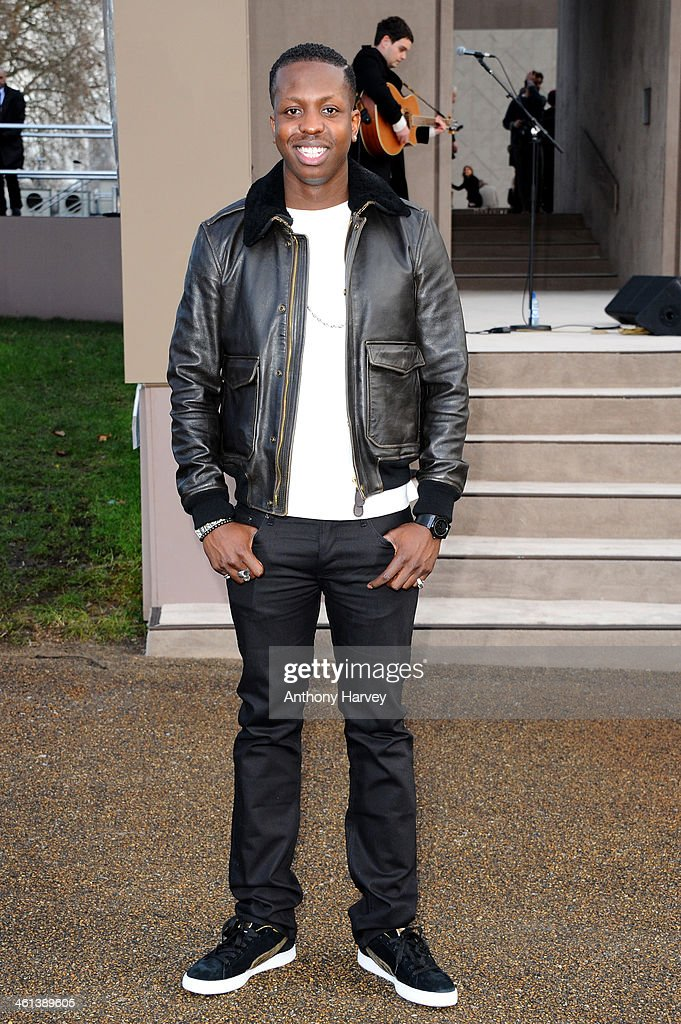 Jamal Edwards attends the Burberry Prorsum show during The London Collections: Men Autumn/Winter 2014 on January 8, 2014 in London, England.
