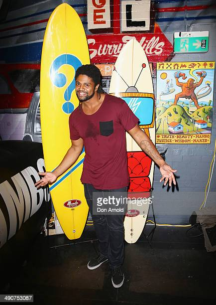Jamal Idris attends a party to celebrate 30 years of Australian brand MAMBO at The Standard Bowl on May 15 2014 in Sydney Australia