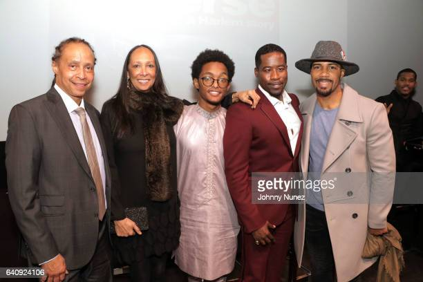 Jamal Joseph Cheryl Hill Khadim Diop Daniel Beaty and Omari Hardwick attend the 'Chapter Verse' New York Premiere at Mist on January 31 2017 in New...