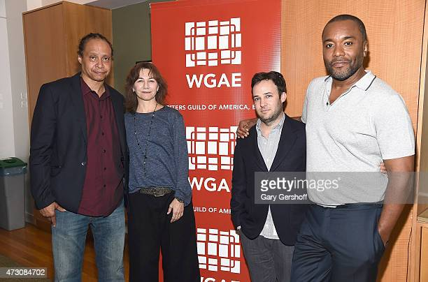 Jamal Joseph Ilene Chaiken Danny Strong and Lee Daniels attend Writers Guild of America East In Conversation With 'Empire' at The New School on May...