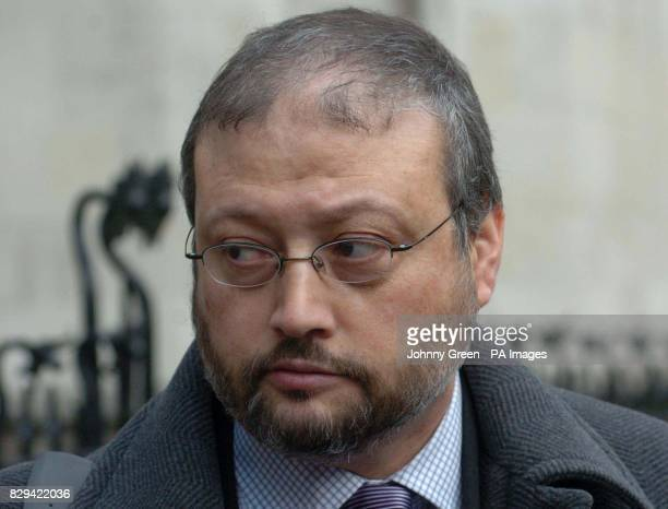 Jamal Khashoggi media advisor to Prince Turki AlFaisal leaves the Royal Courts of Justice in central London The Prince Saudi Arabia's Ambassador to...
