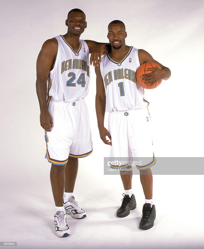 Jamal Mashburn and Baron Davis NBA Media Day