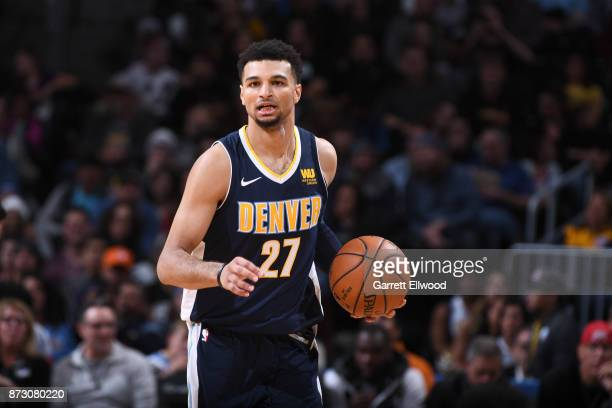 Jamal Murray of the Denver Nuggets handles the ball against the Orlando Magic on November 11 2017 at the Pepsi Center in Denver Colorado NOTE TO USER...