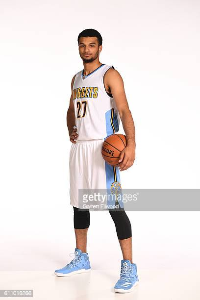 Jamal Murray of the Denver Nuggets poses for a portrait during media day on September 26 2016 at the Pepsi Center in Denver Colorado NOTE TO USER...