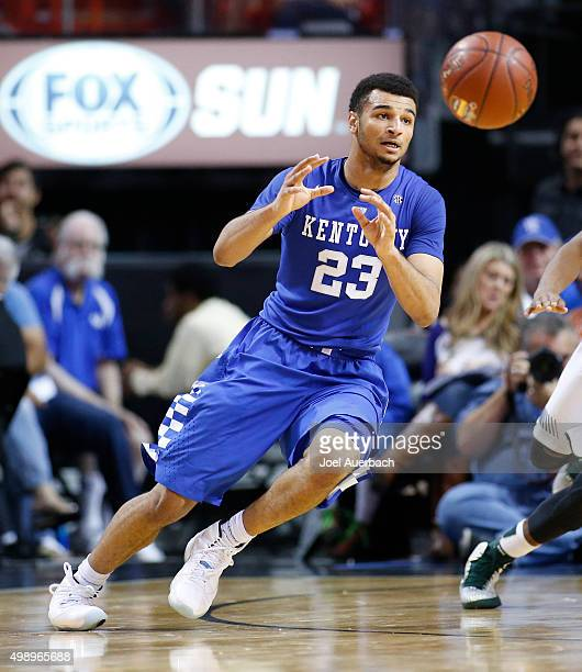 Jamal Murray of the Kentucky Wildcats waits for the pass during second half action against the South Florida Bulls on November 27 2015 at the...