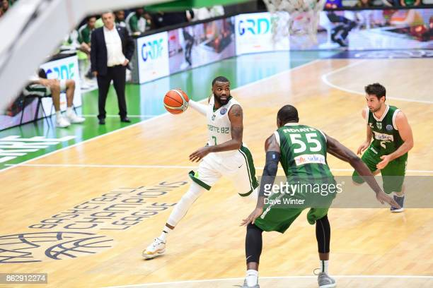 Jamal Shuler of Nanterre during the Basketball Champions League match between Nanterre 92 and Sidigas Avellino on October 18 2017 in Nanterre France