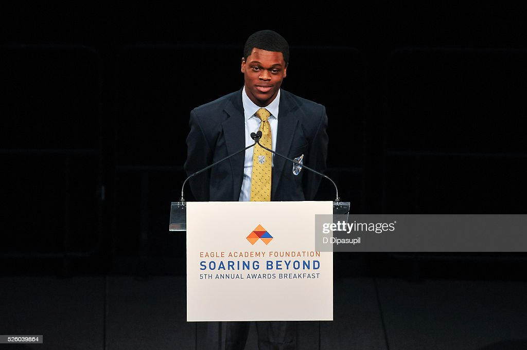 Jamal Trotman speaks onstage during the 2016 Eagle Academy Foundation Fundraising Breakfast at Gotham Hall on April 29, 2016 in New York City.