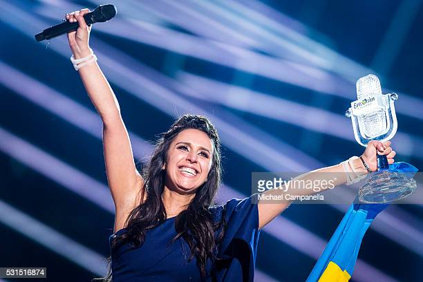 Jamala wins 2016 Eurovision Song Contest at Ericsson Globe Arena on May 14 2016 in Stockholm Sweden