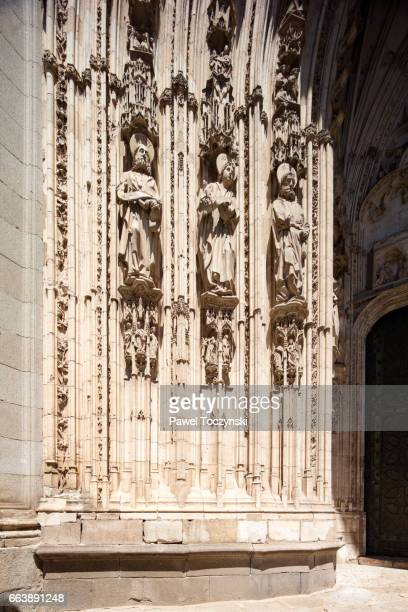 Jamb figures on the Toledo Cathedral portal, Spain