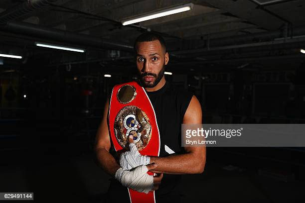Jame DeGale of Great Britain poses for a photo during a Media Workout at Stonebridge ABC on December 13 2016 in London England