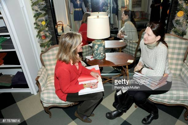 Jamee Gregory and Kathryn Beal attend Breakfast and Signing to Celebrate Jamee Gregory's New Book at J McLAUGHLIN STORE on Madison Ave on December...