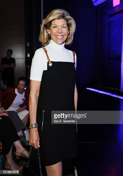 Jamee Gregory attends the Douglas Hannant show during Spring 2013 MercedesBenz Fashion Week at New York Historical Society on September 12 2012 in...