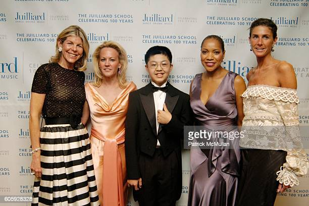 Jamee Gregory Muffie Potter Aston Peng Peng Grace Hightower and Summers Farkas attend The JUILLIARD Centennial Gala Live at Lincoln Center at The...