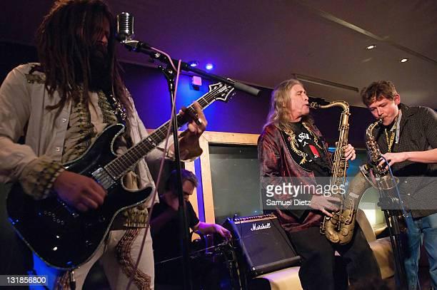 Jameel Abdul Kebab and Steve MacKay perform at La Machine du Moulin Rouge on December 17 2010 in Paris France