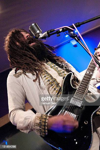 Jameel Abdul Kebab performs live with Steve MacKay at La Machine du Moulin Rouge on December 17 2010 in Paris France