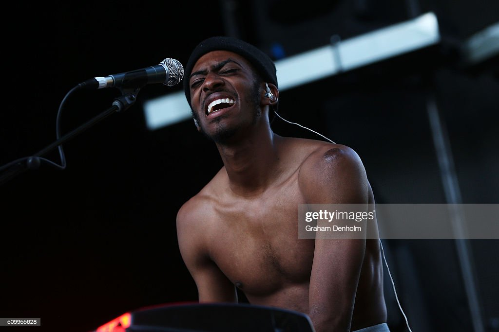 Jameel Bruner of The Internet performs at St Jerome's Laneway Festival on February 13 2016 in Melbourne Australia