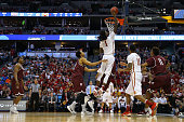 Jameel McKay of the Iowa State Cyclones dunsk the ball against the Arkansas Little Rock Trojans during the second round of the 2016 NCAA Men's...