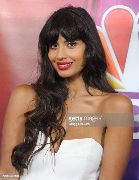 Jameela Jamil arrives at the 2016 Summer TCA Tour NBCUniversal Press Tour Day 1 at The Beverly Hilton Hotel on August 2 2016 in Beverly Hills...