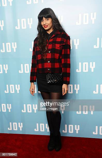 Jameela Jamil attends a special screening of 'Joy' at Ham Yard Hotel on December 17 2015 in London England