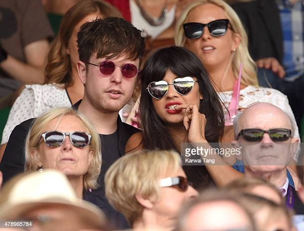 Jameela Jamil attends day one of the Wimbledon Tennis Championships on June 29 2015 in London England