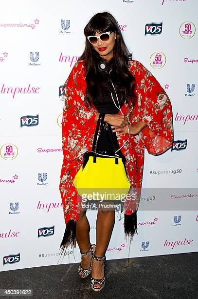 Jameela Jamil attends Superdrug's 50th anniversary party at The Bankside Vaults on June 10 2014 in London England