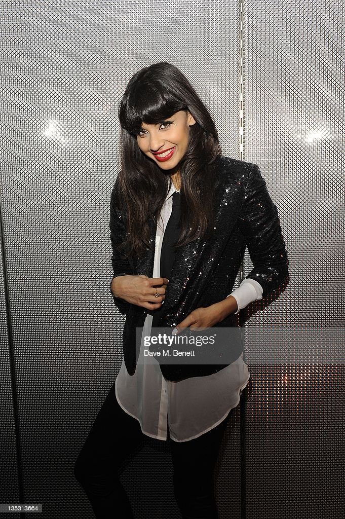 Jameela Jamil attends the Armani Exchange 20th Anniversary Celebration on December 8 2011 in London England