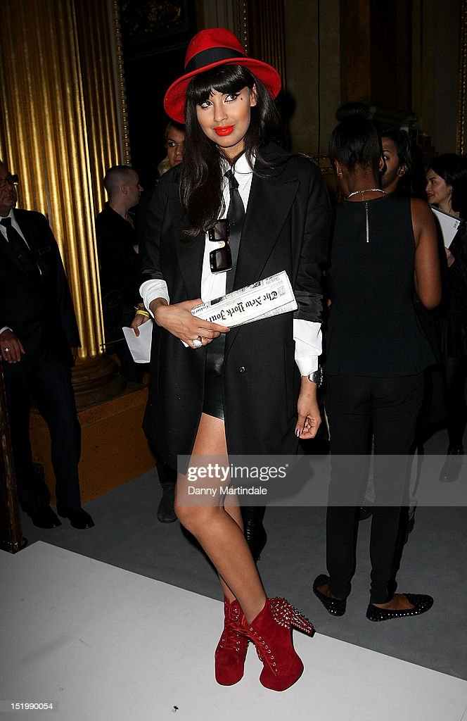 Jameela Jamil attends the front row for the PPQ show on day one of London Fashion Week Spring/Summer 2013, at Goldsmiths Hall on September 14, 2012 in London, England.