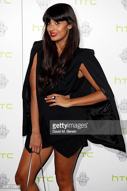 Jameela Jamil attends the HTC One M9 INK Launch Event at the ME Hotel on June 11 2015 in London England
